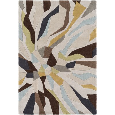 Conroy Hand-Tufted Area Rug Rug size: Rectangle 5 x 8