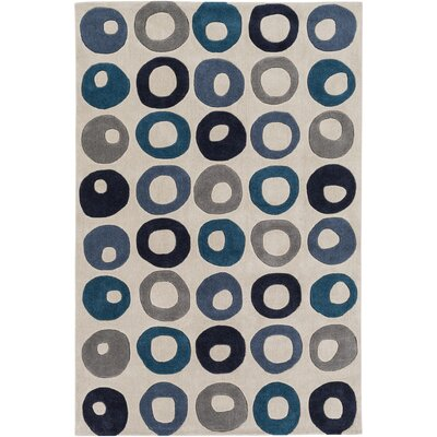 Conroy Hand-Tufted Ivory Area Rug Rug size: Rectangle 2 x 3