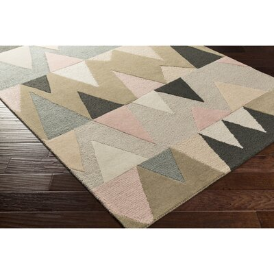 Nida Hand-Tufted Brown/Blue Area Rug Rug Size: Rectangle 5 x 76