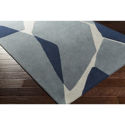 Nida Hand-Tufted Blue Area Rug Rug Size: Rectangle 5 x 76