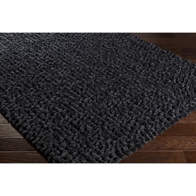 Darwin Hand-Crafted Black Area Rug Rug Size: Rectangle 4 x 6