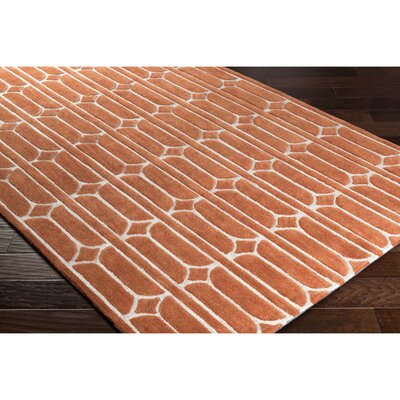 Moultry Hand-Tufted Orange Area Rug Rug Size: 2 x 3