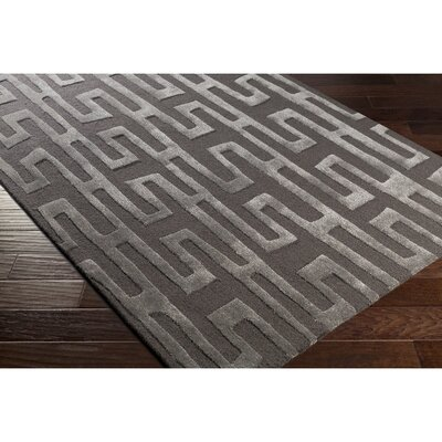 Blandon Hand-Tufted Gray Area Rug Rug Size: Rectangle 5 x 76