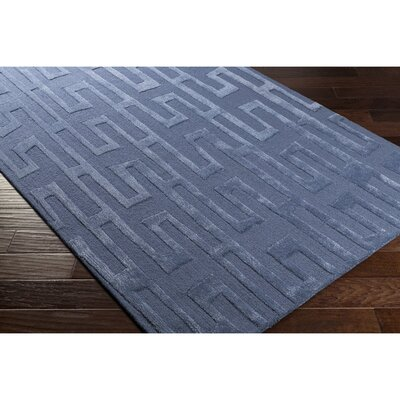 Blandon Hand-Tufted Blue Area Rug Rug Size: Rectangle 2' x 3'