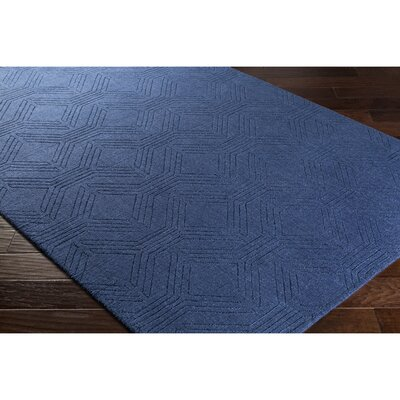 Belle Hand-Loomed Blue Area Rug Rug Size: Rectangle 5 x 76
