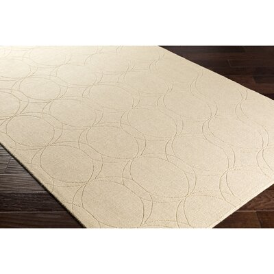 Belle Hand-Loomed Neutral Area Rug Rug Size: 8 x 10