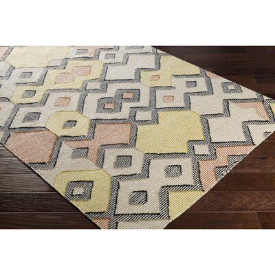 Holden Hand-Woven Orange/Green Area Rug Rug Size: Rectangle 2 x 3