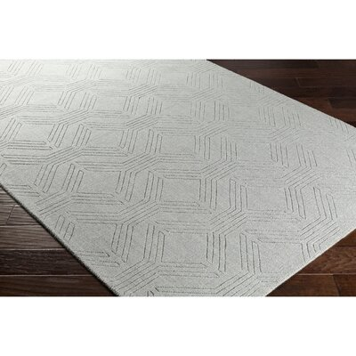 Belle Hand-Loomed Gray Area Rug Rug Size: Rectangle 2 x 3