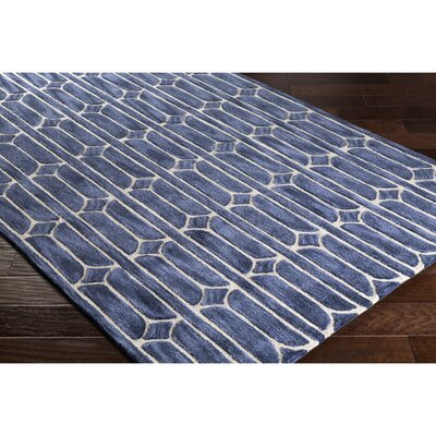 Moultry Hand-Tufted Blue Area Rug Rug Size: Rectangle 2 x 3