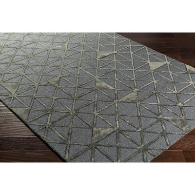 Blandon Hand-Tufted Gray/Brown Area Rug Rug Size: 2 x 3