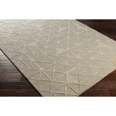 Blandon Hand-Tufted Gray/Neutral Area Rug Rug Size: 8 x 10