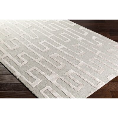 Blandon Hand-Tufted Neutral/Gray Area Rug Rug Size: Rectangle 5 x 76