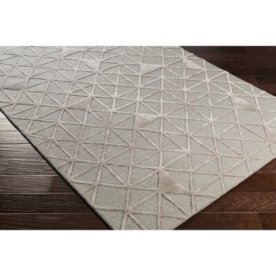 Blandon Hand-Tufted Gray/Neutral Area Rug Rug Size: 5 x 76