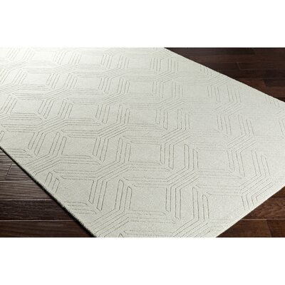 Belle Hand-Loomed Green Area Rug Rug Size: Rectangle 2 x 3