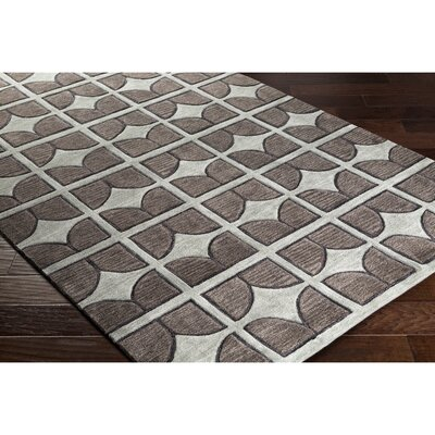 Moultry Hand-Tufted Gray/Green Area Rug Rug Size: Rectangle 8 x 10
