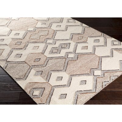 Holden Hand-Woven Neutral Area Rug Rug Size: Rectangle 5 x 76