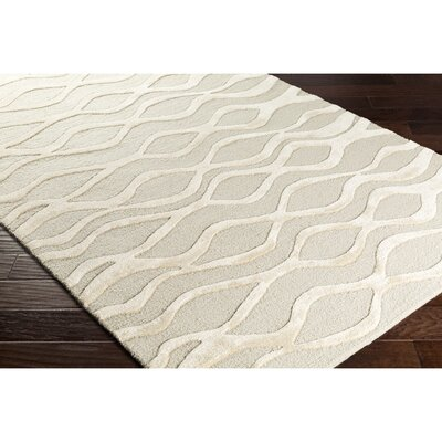 Blandon Hand-Tufted Gray/Neutral Area Rug Rug Size: Rectangle 5 x 76