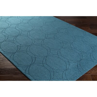 Belle Hand-Loomed Blue Area Rug Rug Size: 2 x 3