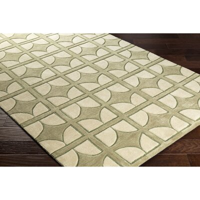 Moultry Hand-Tufted Green Area Rug Rug Size: Rectangle 2 x 3