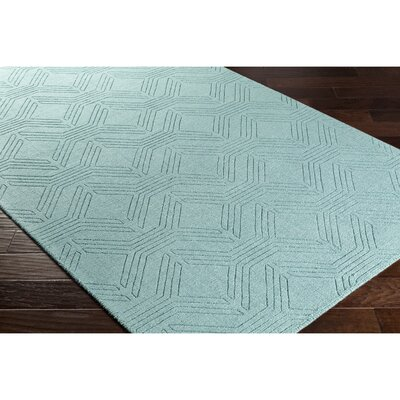 Belle Hand-Loomed Blue Area Rug Rug Size: 8 x 10