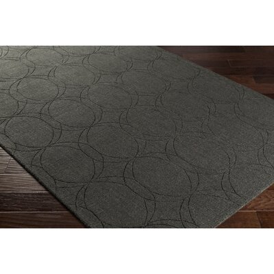 Belle Hand-Loomed Gray Area Rug Rug Size: 2 x 3