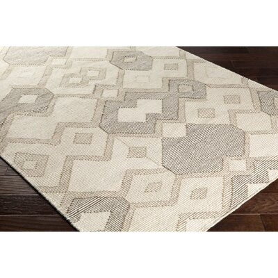 Holden Hand-Woven Neutral/Brown Area Rug Rug Size: 5 x 76