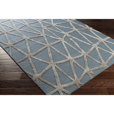 Blandon Hand-Tufted Blue/Gray Area Rug Rug Size: Rectangle 5 x 76