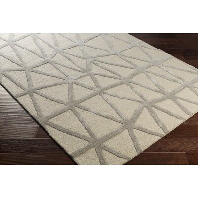 Blandon Hand-Tufted Neutral/Gray Area Rug Rug Size: 8 x 10