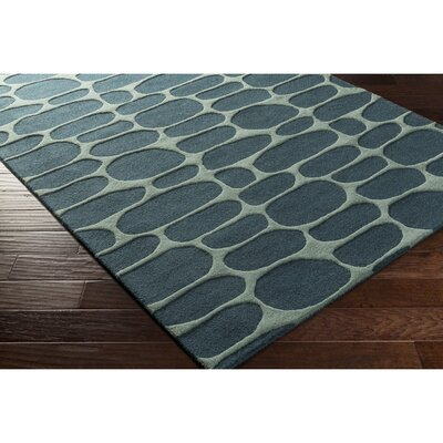 Nida Hand-Tufted Blue/Green Area Rug Rug Size: Rectangle 5 x 76