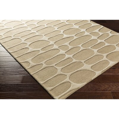 Nida Hand-Tufted Neutral Area Rug Rug Size: 4 x 6