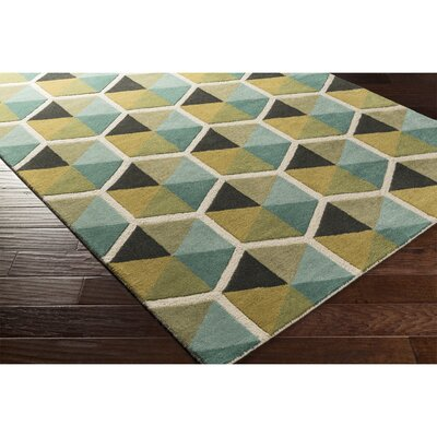 Nida Hand-Tufted Blue Area Rug Rug Size: Runner 26 x 8