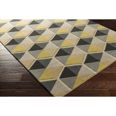 Nida Hand-Tufted Neutral/Brown Area Rug Rug Size: Rectangle 5 x 76