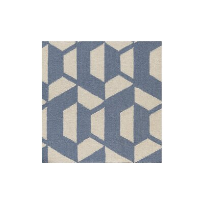 Buttrey Hand-Woven Blue/Neutral Area Rug Rug Size: 2 x 3