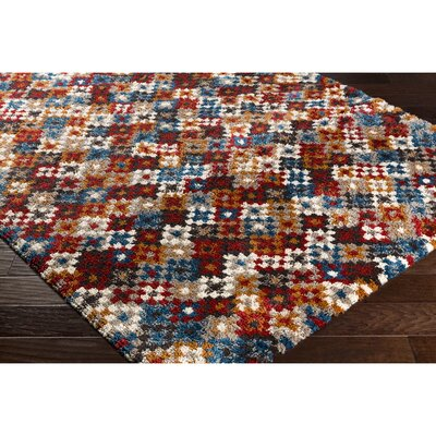 Damis Yellow/Red Area Rug Rug Size: Rectangle 711 x 1010