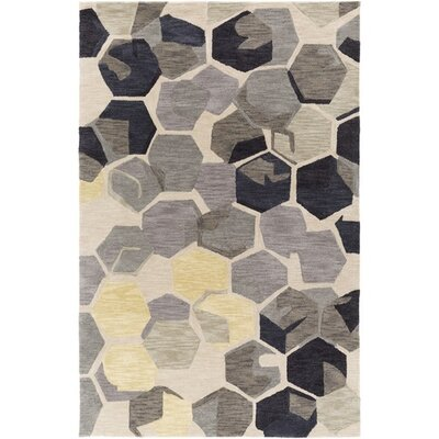Hebert Hand-Tufted Neutral/Brown Area Rug Rug Size: Rectangle 5 x 76