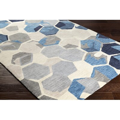 Hebert Hand-Tufted Yellow/Gray Area Rug Rug Size: 5 x 76