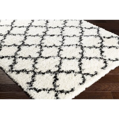 Boyce Neutral/Black Area Rug Rug Size: 53 x 73