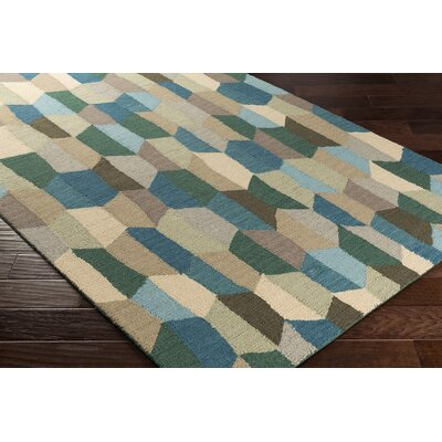 Senger Hand-Tufted Green/Beige Area Rug Rug Size: Rectangle 5 x 76