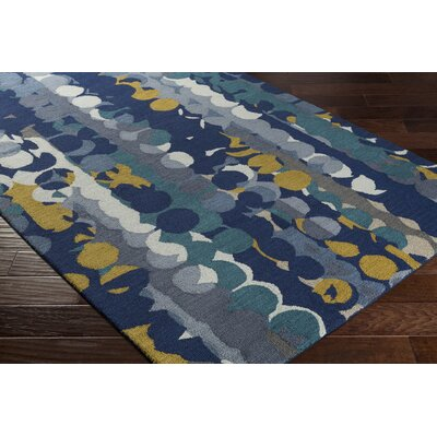 Senger Hand-Tufted Blue Area Rug Rug Size: Rectangle 5 x 76
