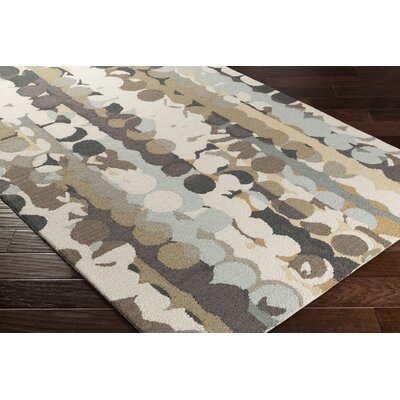 Senger Hand-Tufted Beige/Brown Area Rug Rug Size: Rectangle 2 x 3