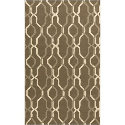 Kinde Brown Indoor/Outdoor Rug Rug Size: 5 x 8