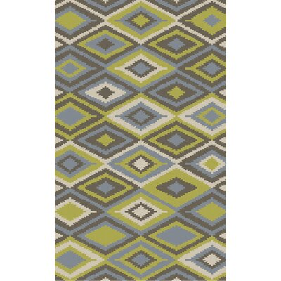 Kinde Olive/Gray Indoor/Outdoor Area Rug Rug Size: Round 8