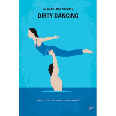 Dirty Dancing Minimal Movie Poster Vintage Advertisement on Wrapped Canvas