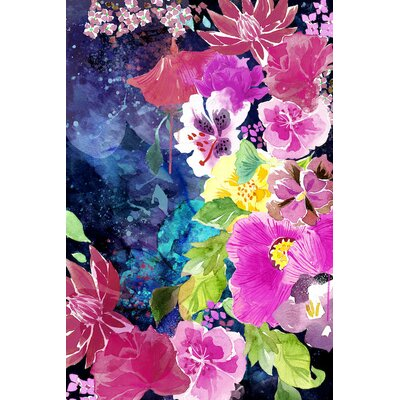 Everlasting Flowers Painting Print on Wrapped Canvas Size: 12