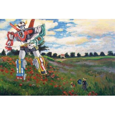 Voltron Dans Les Colquelicots Painting Print on Wrapped Canvas