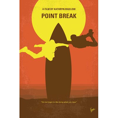 Point Break Minimal Movie Poster Vintage Advertisement on Wrapped Canvas