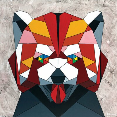 Redpanda Graphic Art on Wrapped Canvas