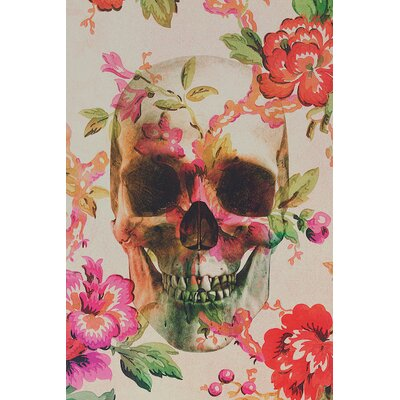 Skull Graphic Art on Wrapped Canvas