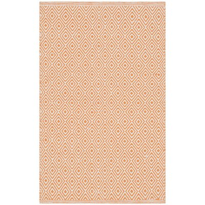 Sessums Hand-Woven Ivory/Rust Area Rug Rug Size: Rectangle 4 x 6