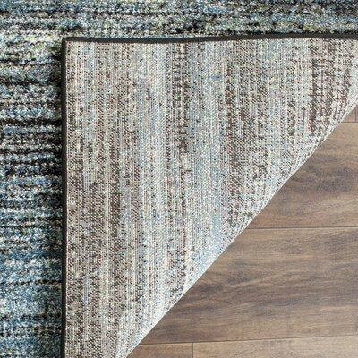 Sevastopol Charcoal/Blue Area Rug Rug Size: Rectangle 27 x 5